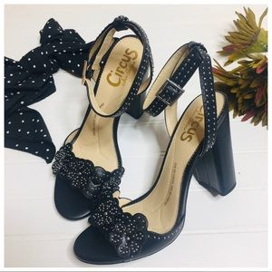 NEW Sam Edelman Floral Studded Block Heels